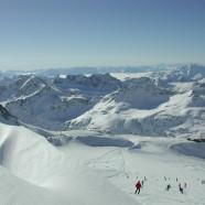 Lyžovanie na ľadovci pri rakúskom Flattachu